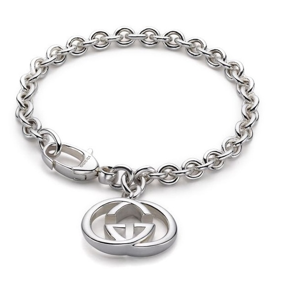 577cf9b652aaf 🆕 Gucci Sterling Silver Double G Charm Bracelet NWT